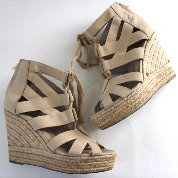Dolce Vita Shoes - Dolce Vita Lace Up Espadrille Platform Wedges